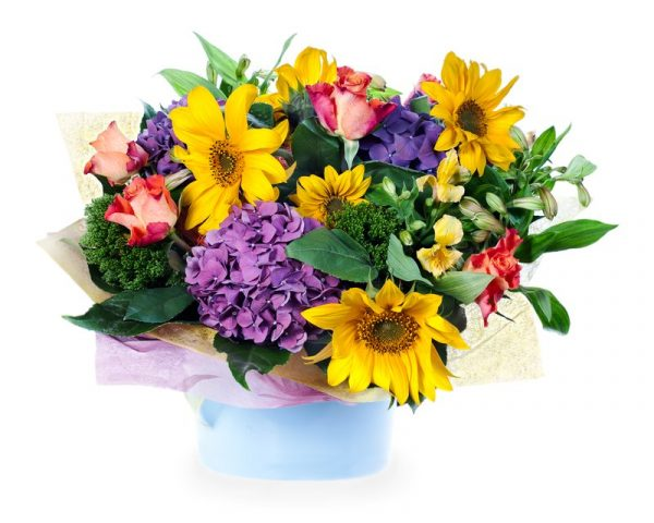 flowers sunflowers bouquet